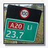 Ongeluk op A20 zorgt voor files