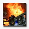Grote brand winkelcentrum Winschoten