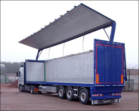 Transport Online Hydraulische Zijwandtrailer Van Knapen