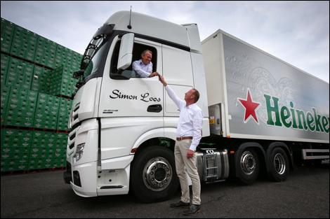 transport online heineken volledig over op vrachtwagens
