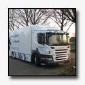 Bijzondere toepassing van Scania P230 bakwagens