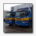Twee Scania EEV containerchassis voor Van Diemen