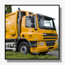 Twee ultra schone DAF FAG CF75.310 Euro-5 EEV voertuigen voor Collin Recycling