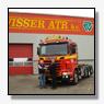 Vierassige Scania containerauto voor Visser ATR