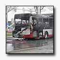 Qbuzz bus brandt volledig uit