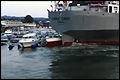 Bulkcarrier 'Cyprus Cement' heeft 'oeps'-momentje [+video]