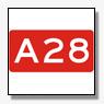 Ongeval A28 tussen twee vrachtwagens