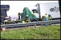 A17 dicht na ongeluk met vrachtwagens [+foto]