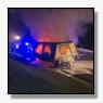 Vrachtwagenaanhanger volledig uitgebrand op A50 [+foto]