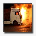 Vrachtwagencabine uitgebrand [+foto's]
