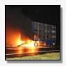 Vrachtwagenaanhanger in de brand op N33 [+foto]
