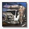 Vrachtwagen met bier in de brand op A15 [update+foto]