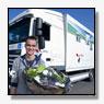 Marcel Postma jongste vrachtwagenchauffeur van Nederland