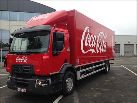 transport online transportnieuws transport online coca cola gaat met renault trucks naar. Black Bedroom Furniture Sets. Home Design Ideas