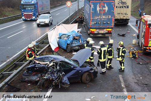Muertos en accidente con varios camiones y coches en A31 alemán [+ fotos]