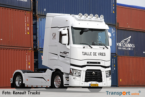 Renault Trucks T-480 High Sleeper voor Tjalle de Vries
