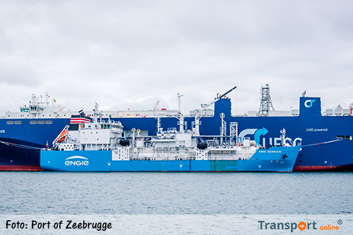 Ship-to-ship LNG-bunkerdiensten gestart in de haven van Zeebrugge