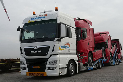 Ultra Low MAN truck-transporter voor  Zandbergen High and Heavy B.V.