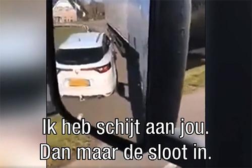 Ongemanierde 'trucker' zorgt voor boze chauffeurs [+video]