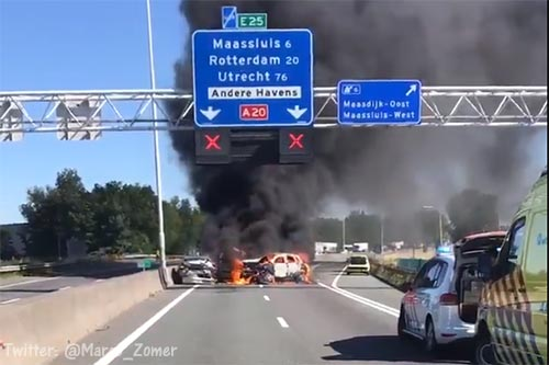 A20 richting Gouda langdurig dicht [+video]