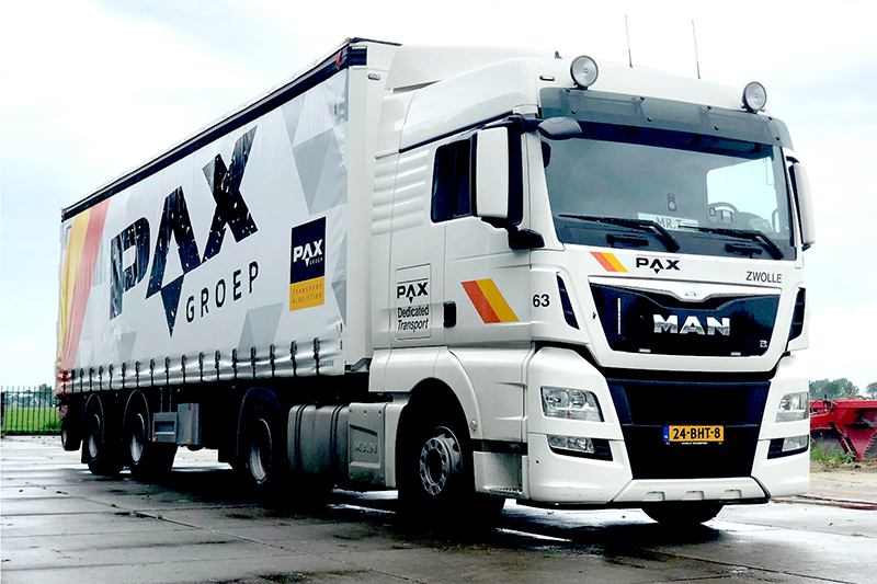 Nieuwe 2-assige city trailer voor PAX Dedicated Transport