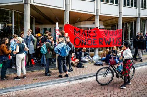 Bezet universiteitspand Amsterdam ontruimd [+video]