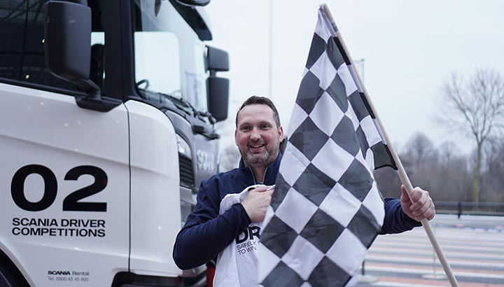 Willem van Mourik wint nationale finale Scania Driver Competitions 2018-2019