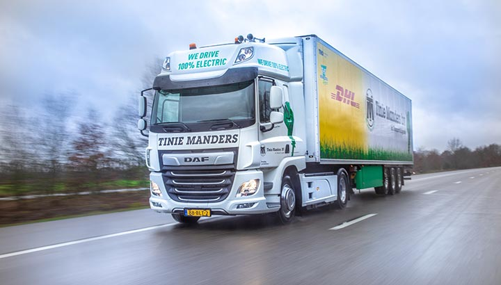 DAF CF Electric voor Tinie Manders Transport