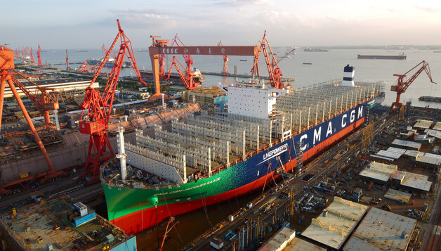 CMA CGM Group onthult 's werelds grootste containerschip op LNG [+video]