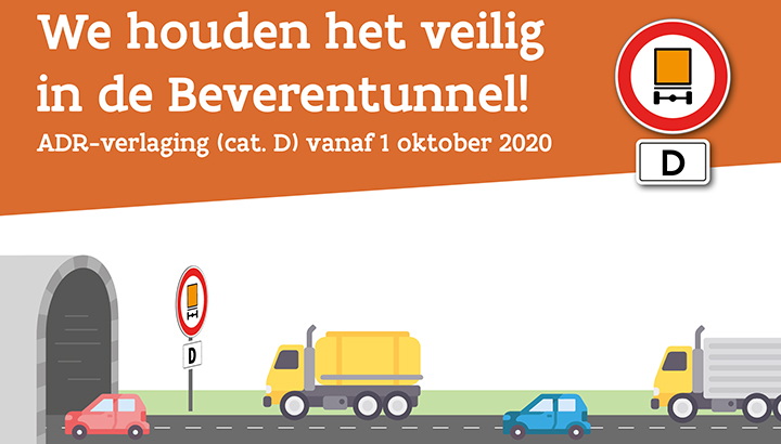 Verlaging ADR-categorisering Belgische Beverentunnel