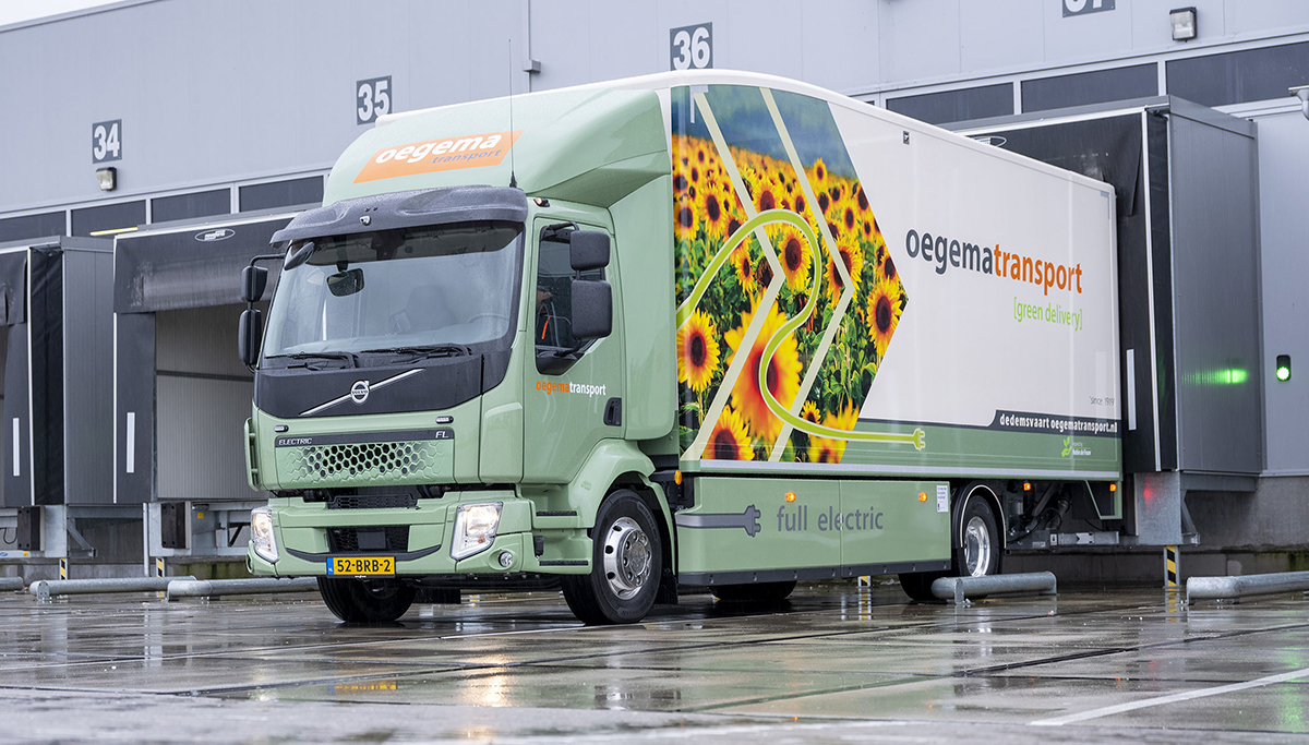 Volvo FL Electric voor Oegema Transport