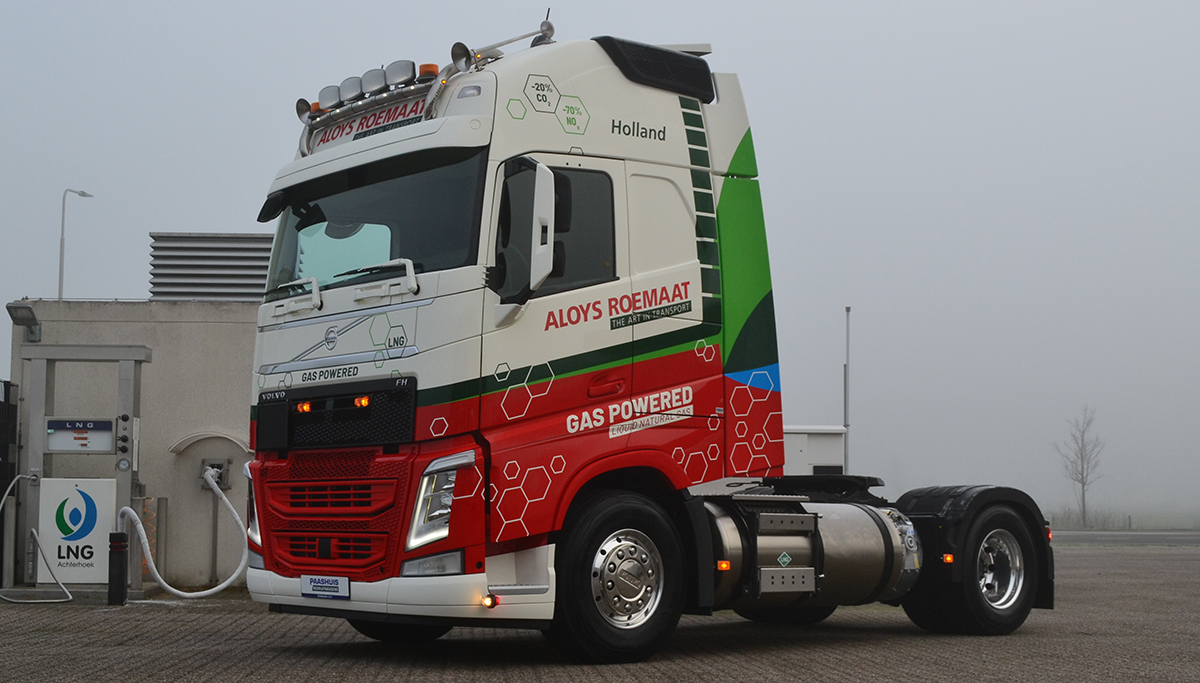 Nieuwe Volvo FH LNG voor A. Roemaat Transport B.V.