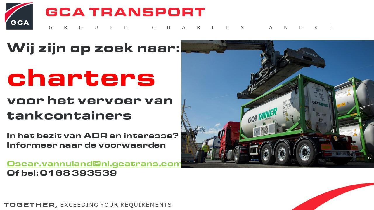Charters voor het vervoer van tankcontainers