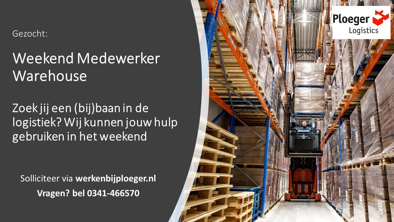 Weekend Medewerker Warehouse