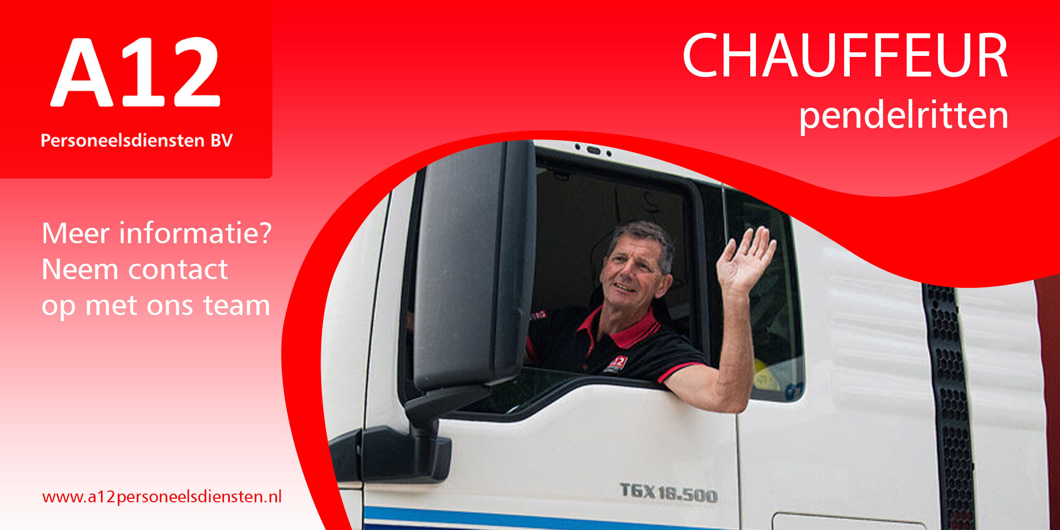 Chauffeur pendelritten (vnl nationaal)