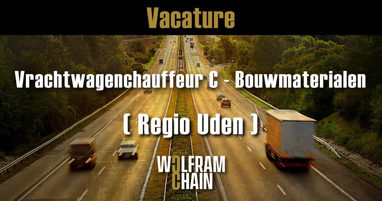 Vrachtwagenchauffeur C - Bouwmaterialen ( Uden )