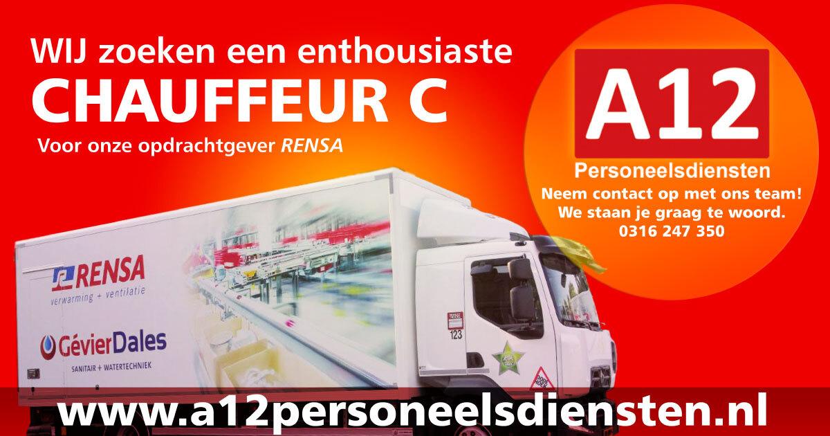 Vrachtwagenchauffeur C of CE (Rensa)