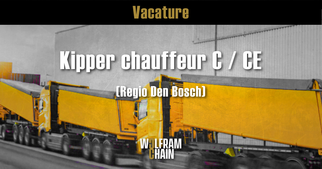 Kipper chauffeur C of CE