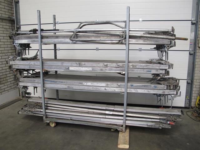 verstelbare aluminium cargoplanken, ladingstangen