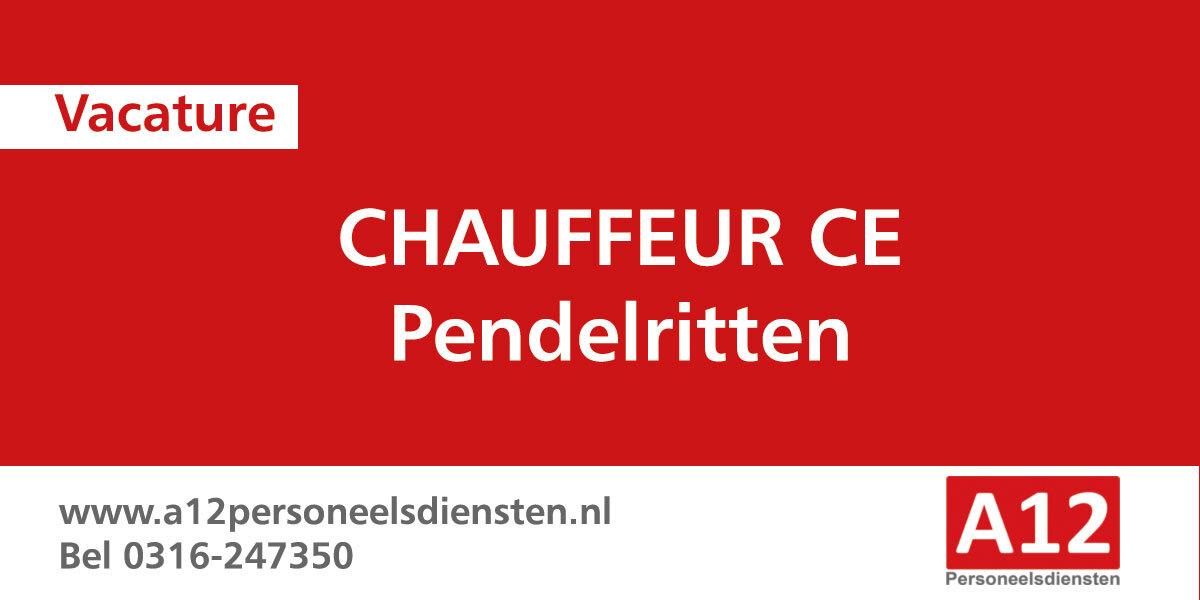 Chauffeur pendelritten (Schiedam – Apeldoorn)
